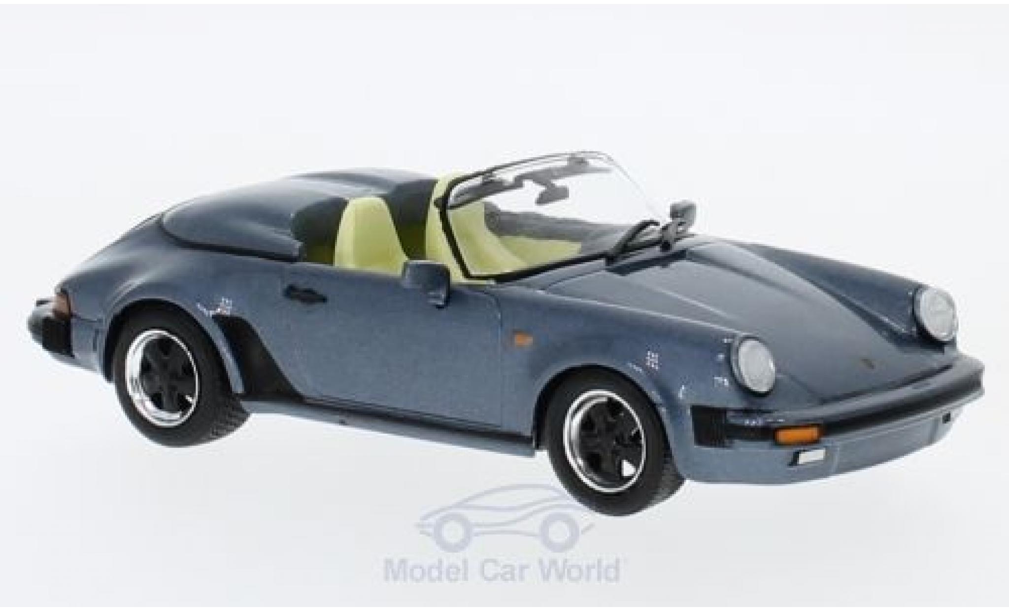 Porsche 930 Speedster 1/43 SpecialC 111 911 metallise bleue 1989 911 Collection