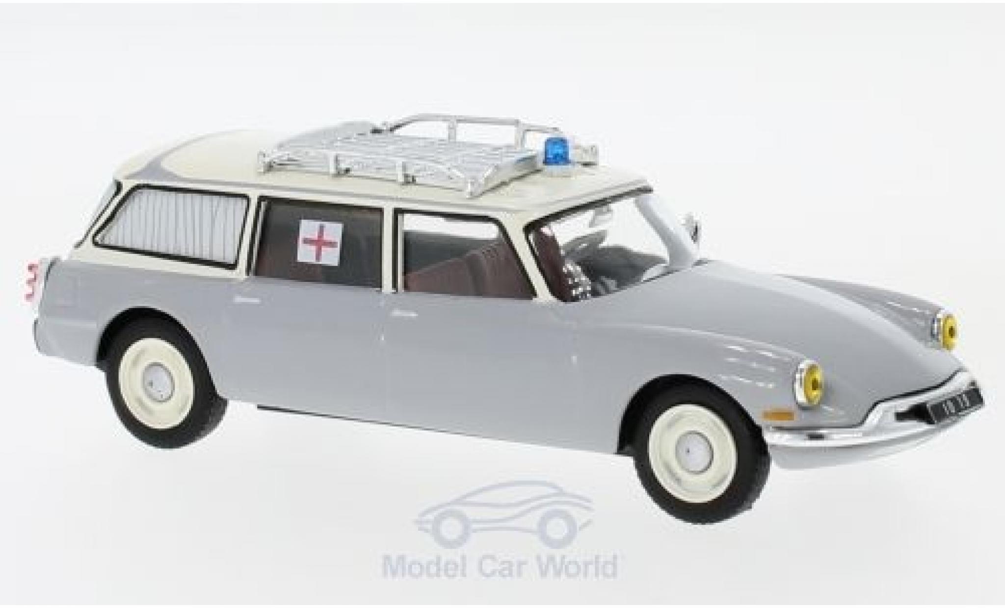 Citroen ID 19 1/43 SpecialC 112 Break grise/beige Ambulance 1962 ohne Vitrine