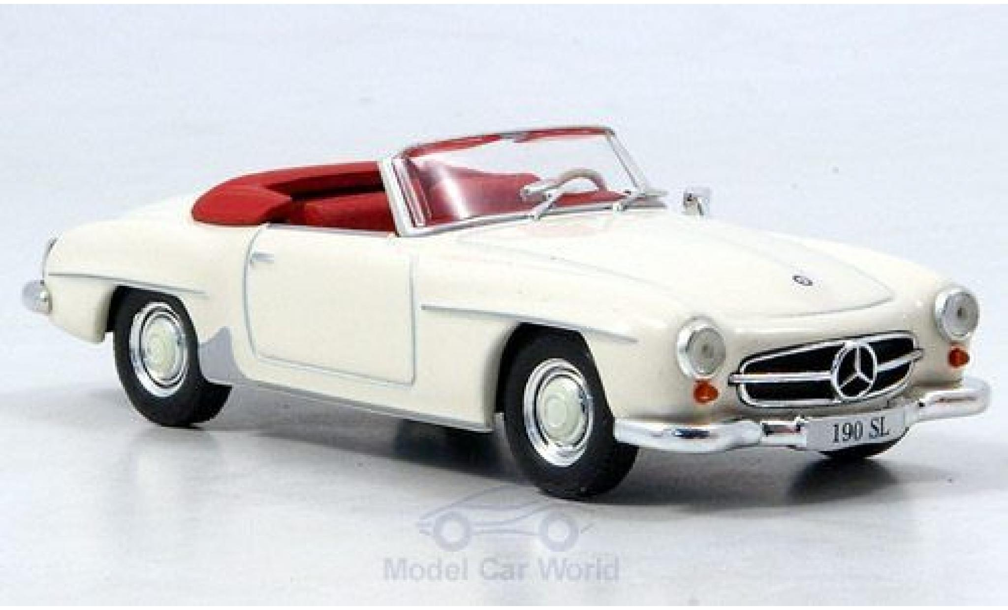 Mercedes 190 1/43 SpecialC 16 SL (W121) blanche 1955 ohne Vitrine