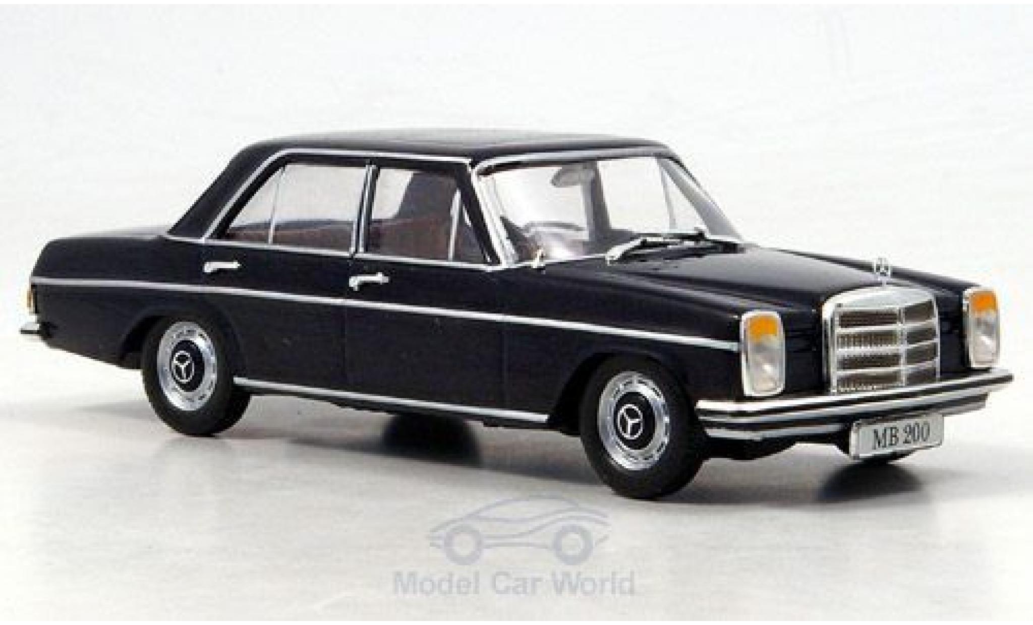 Mercedes 200 1/43 SpecialC 16 /8 (W115) bleue 1968 ohne Vitrine