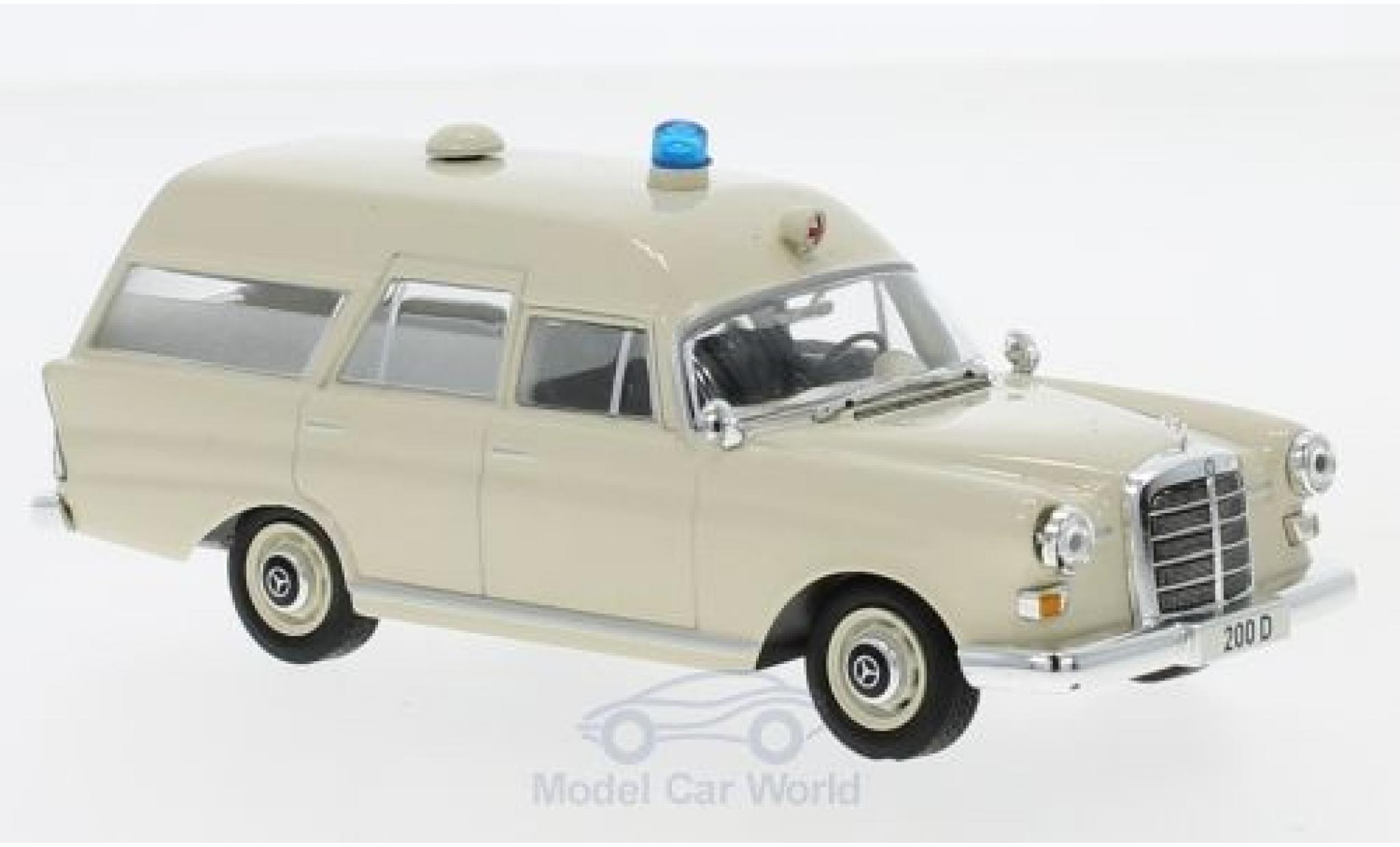 Mercedes 200 1/43 SpecialC 16 D Binz Ambulanz (W108) 1965 ohne Vitrine