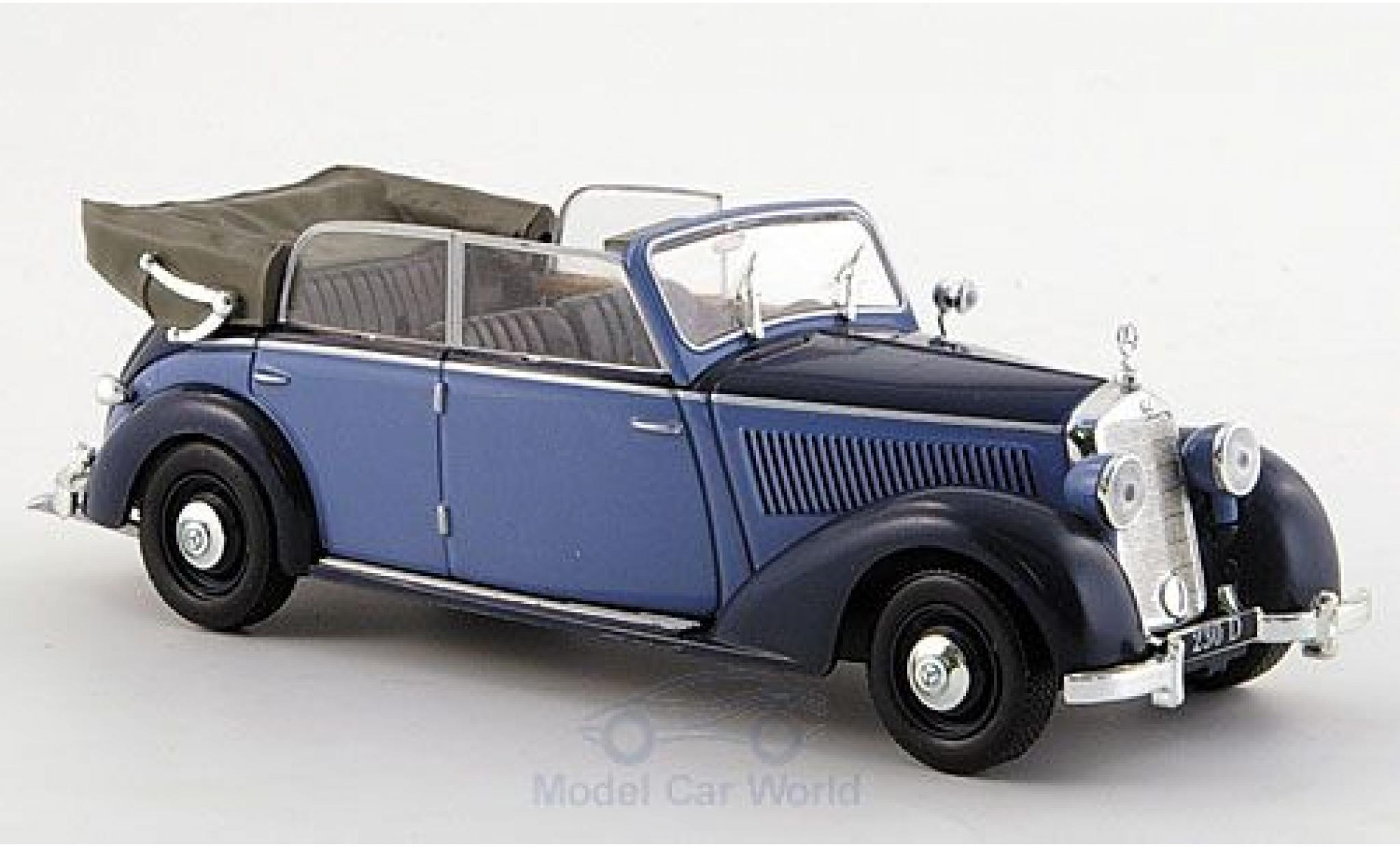 Mercedes 230 1/43 SpecialC 16 Cabriolet D (W 153) bleue/bleue 1939 ohne Vitrine