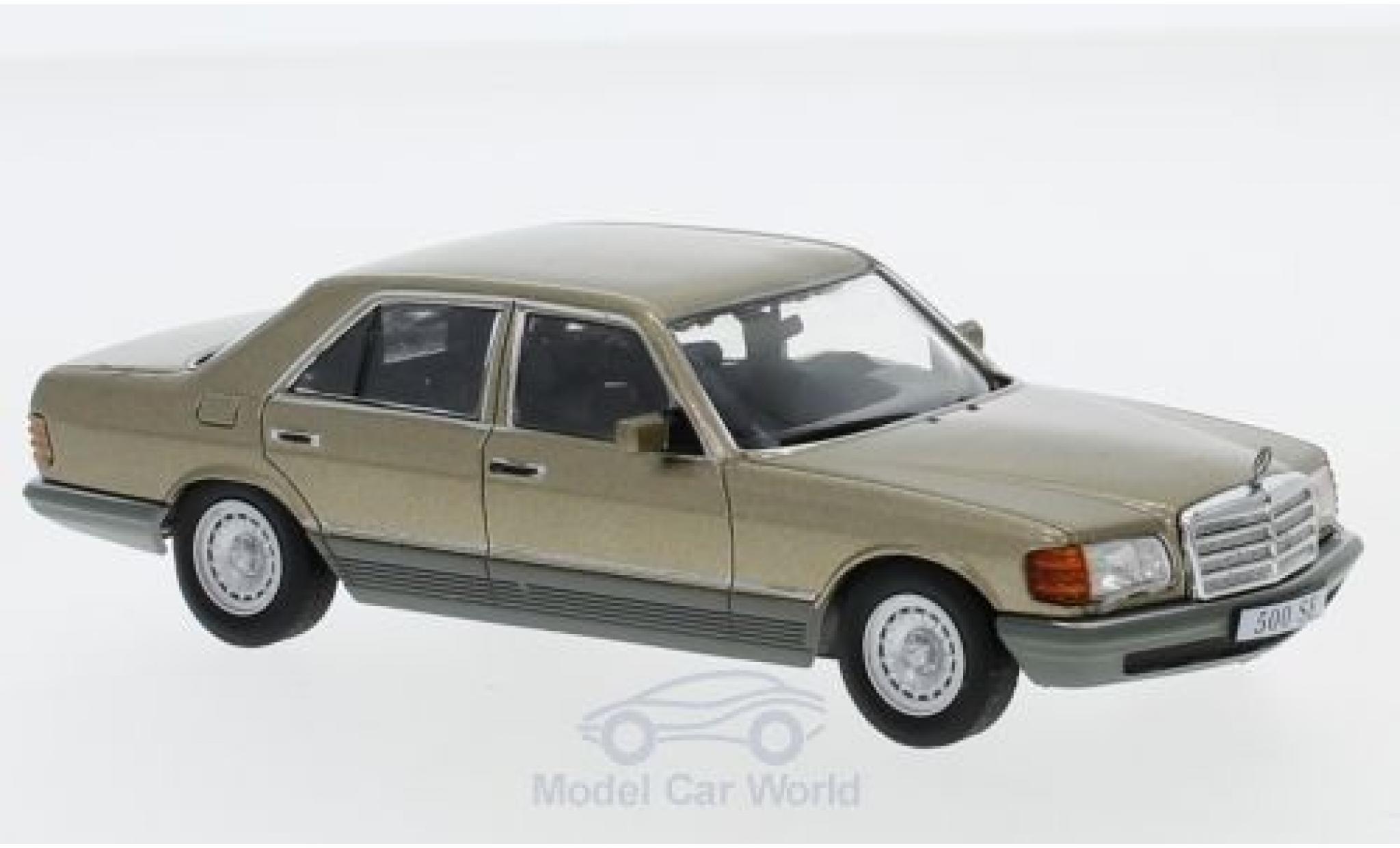 Mercedes 500 1/43 SpecialC 16 SE (W126) métallisé beige 1979 ohne Vitrine