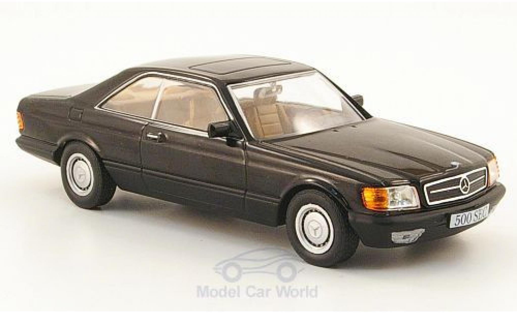 Mercedes 500 1/43 SpecialC 16 SEC (C126) noire 1981 ohne Vitrine