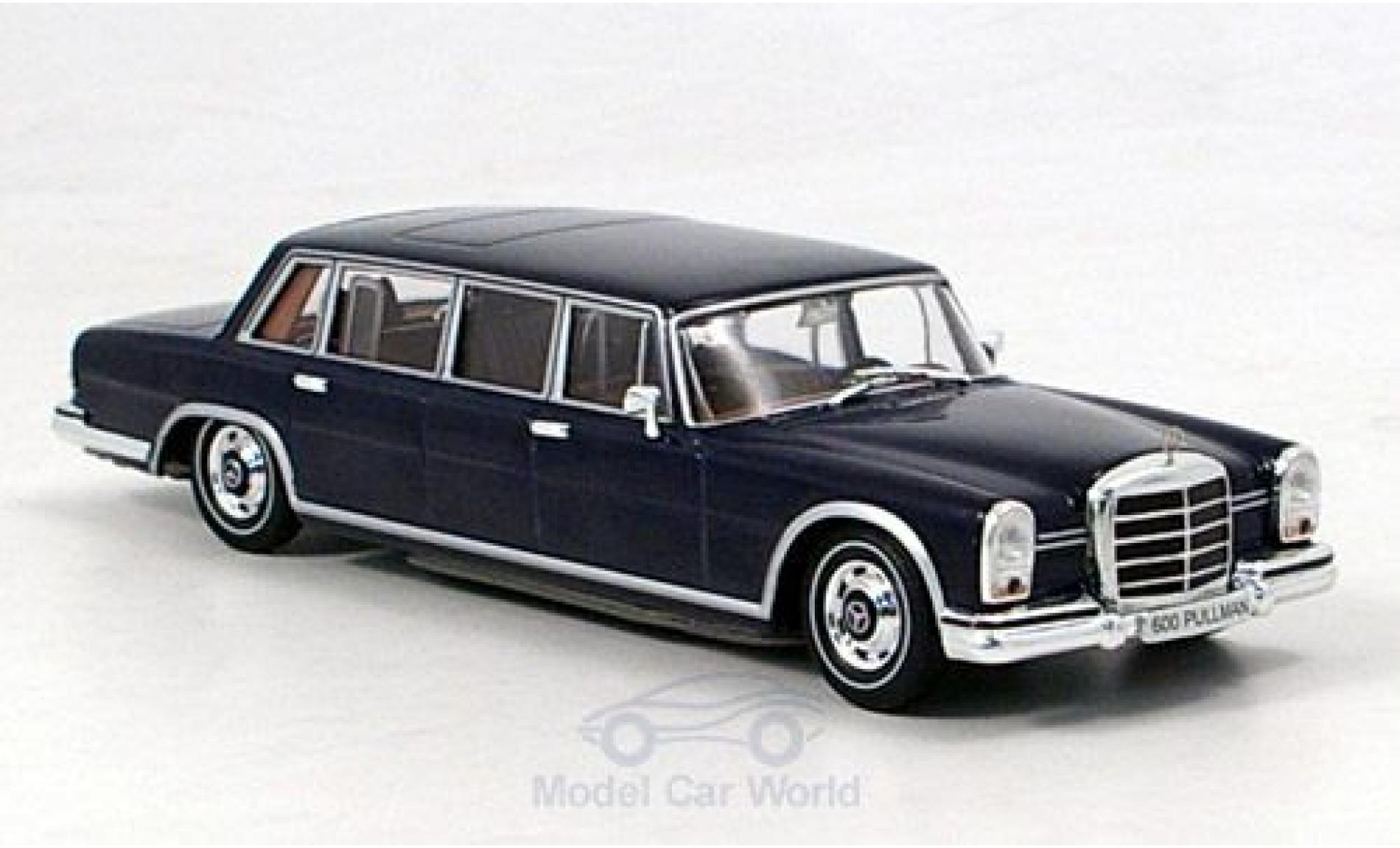 Mercedes 600 1/43 SpecialC 16 Pullman (W100) bleue 1963 ohne Vitrine