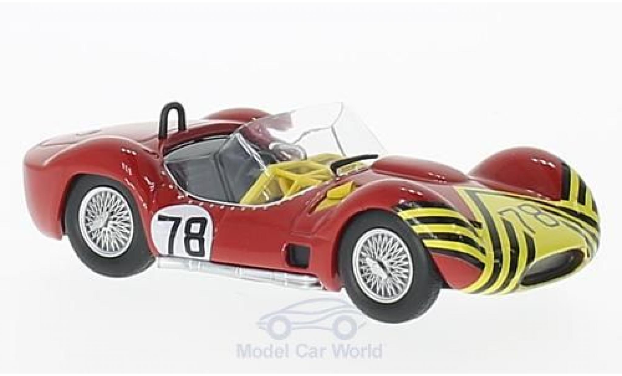 Maserati Tipo 1/43 SpecialC 89 61 RHD No.78 Nassau Trophy 1961 B.Schroeder ohne Vitrine