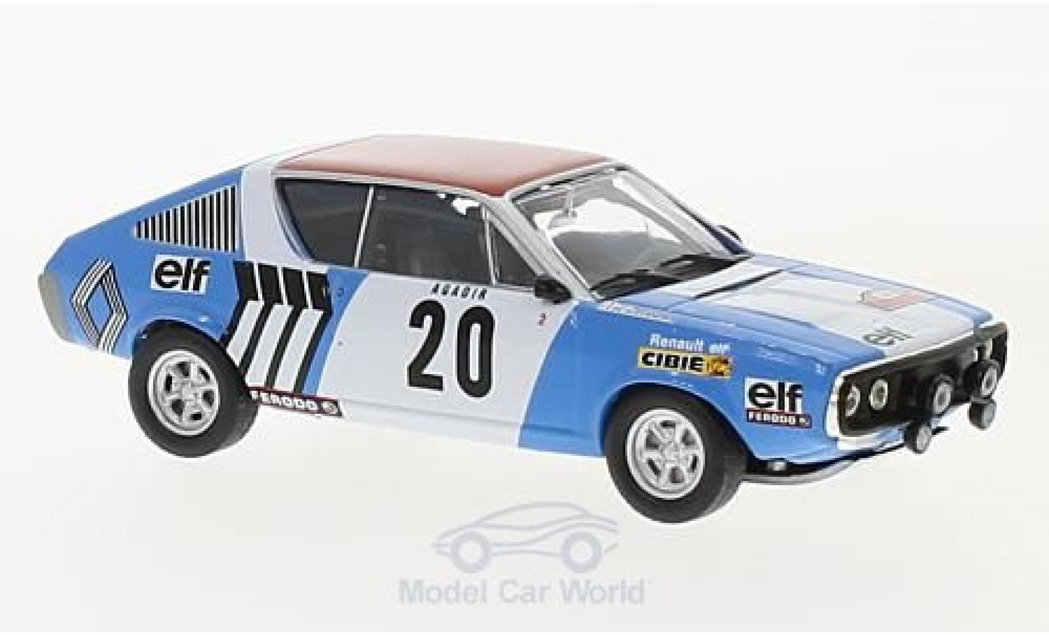 Renault 17 1/43 SpecialC 94 Gordini No.20 Rallye WM Rallye Monte Carlo 1975 J.F.Piot/J.De Alexandris ohne Vitrine