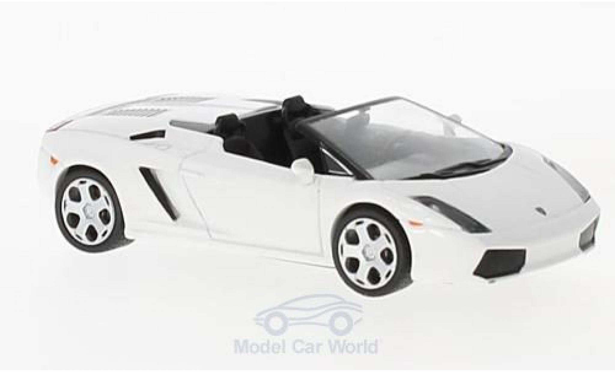 Lamborghini Gallardo Spyder 1/43 SpecialC 98 blanche 2005