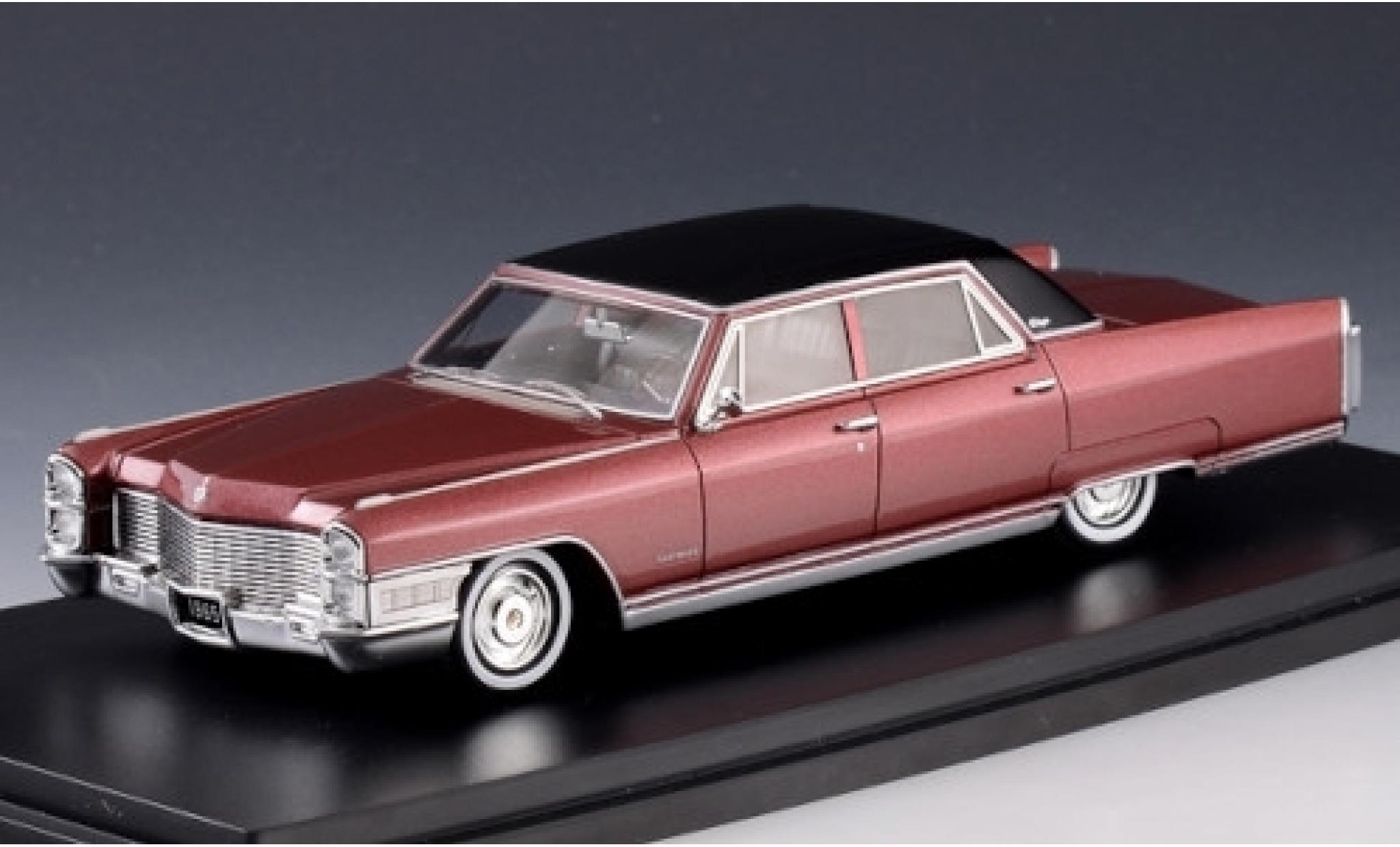 Cadillac Fleetwood 1/43 Stamp Models 60 Special metallise rot/matt-schwarz 1965