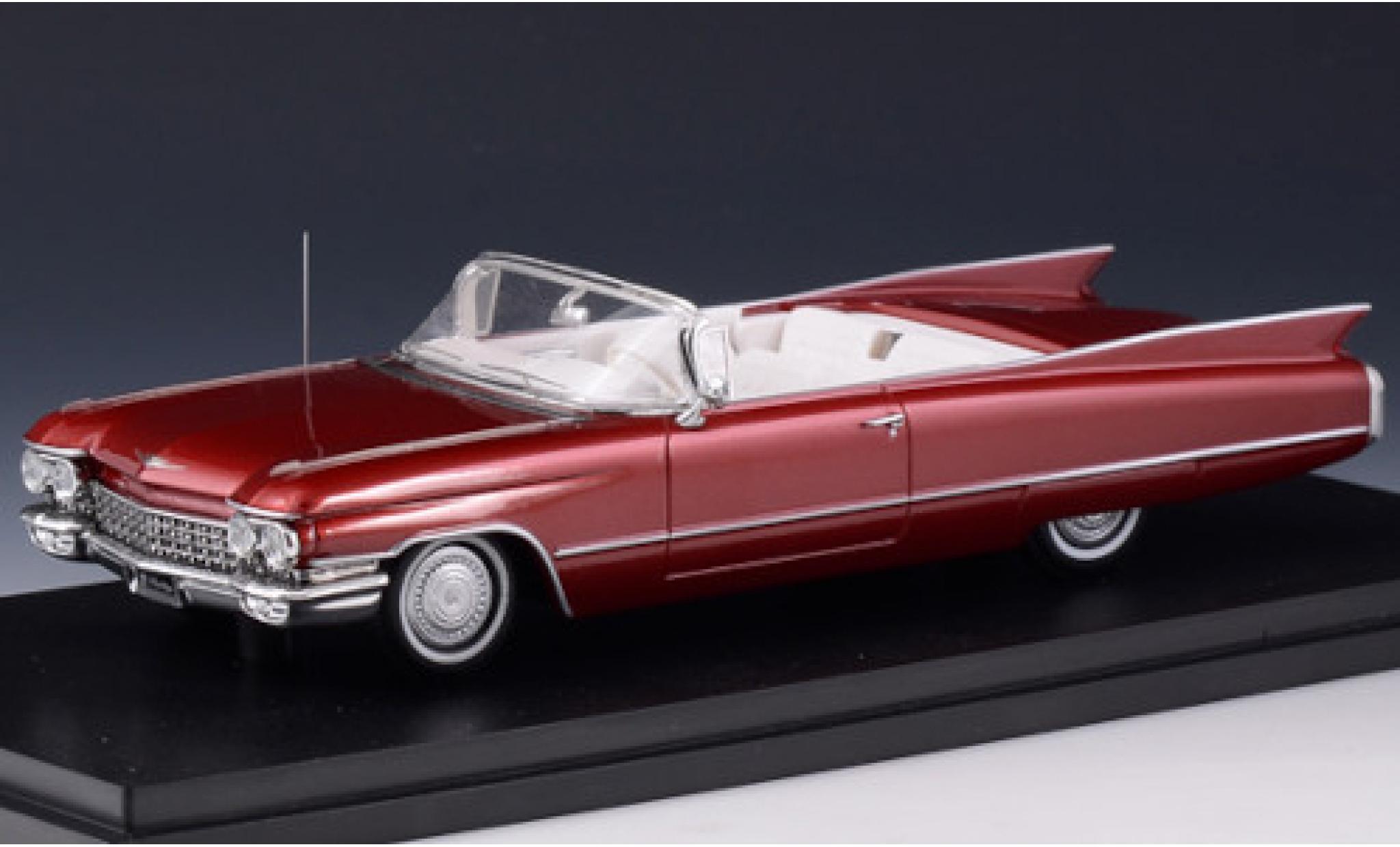 Cadillac Series 62 1/43 Stamp Models Convertible metallise red 1960