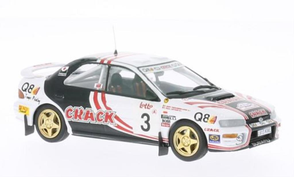 Subaru Impreza 1/43 Trofeu 4x4 Turbo No.3 Crack Boucles de Spa 1995 /Derammelaere miniature