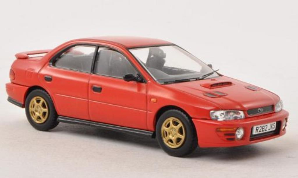 Subaru Impreza 1/43 Vanguards Turbo rouge RHD miniature