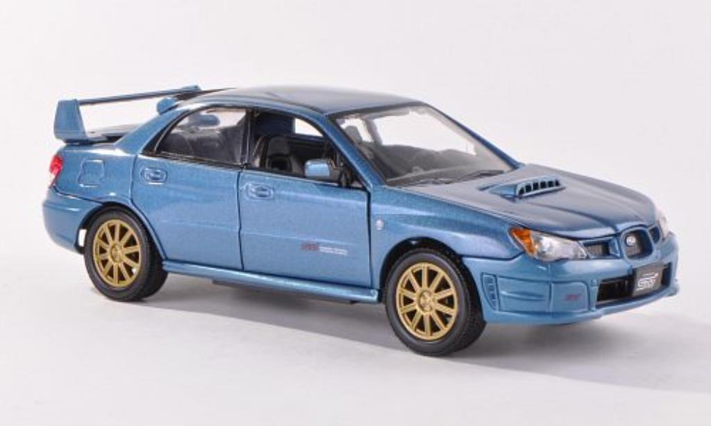 Subaru Impreza WRX 1/24 Motormax STi bleu-grise miniature
