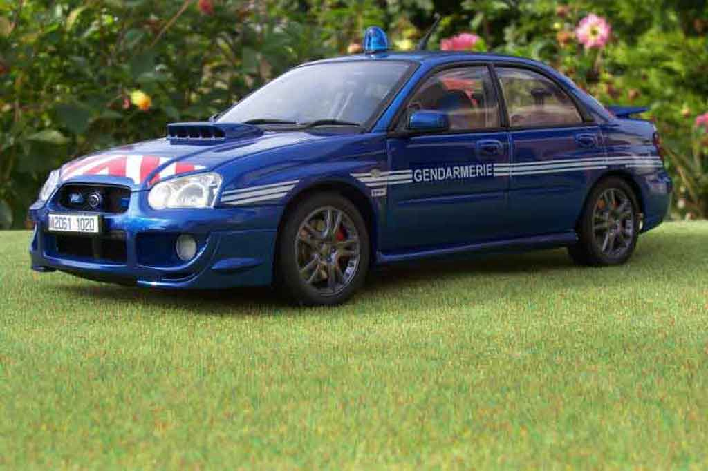 subaru impreza wrx sti gendarmerie police autoart modellauto 1 18 kaufen verkauf modellauto. Black Bedroom Furniture Sets. Home Design Ideas