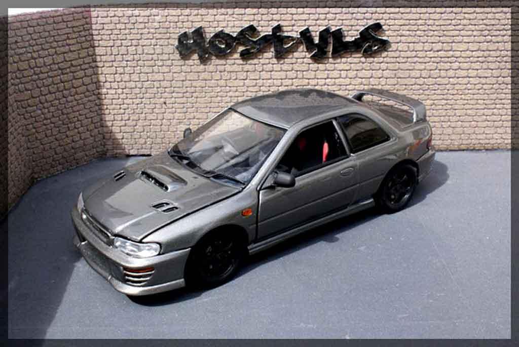 Subaru Impreza WRX Type R 1/18 Autoart gt turbo sti gray carbone