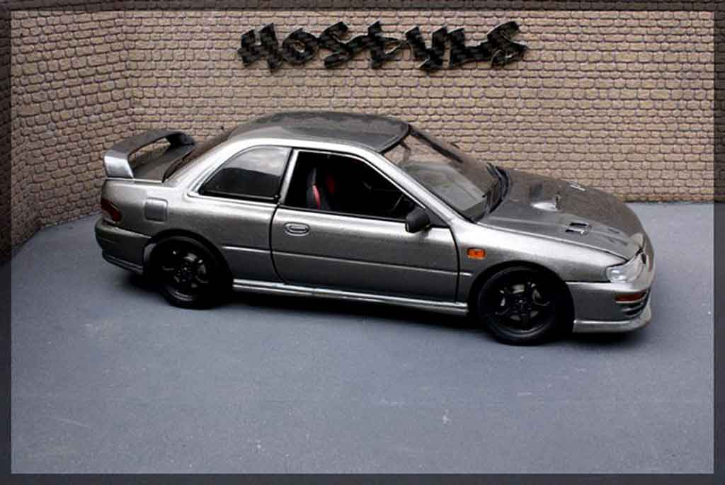 Subaru Impreza WRX Type R 1/18 Autoart gt turbo sti grey carbone tuning diecast model cars