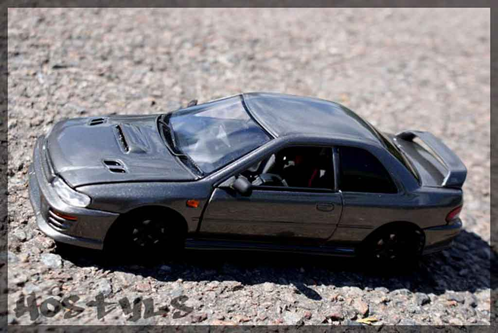 Subaru Impreza WRX Type R 1/18 Autoart gt turbo sti grigia carbone