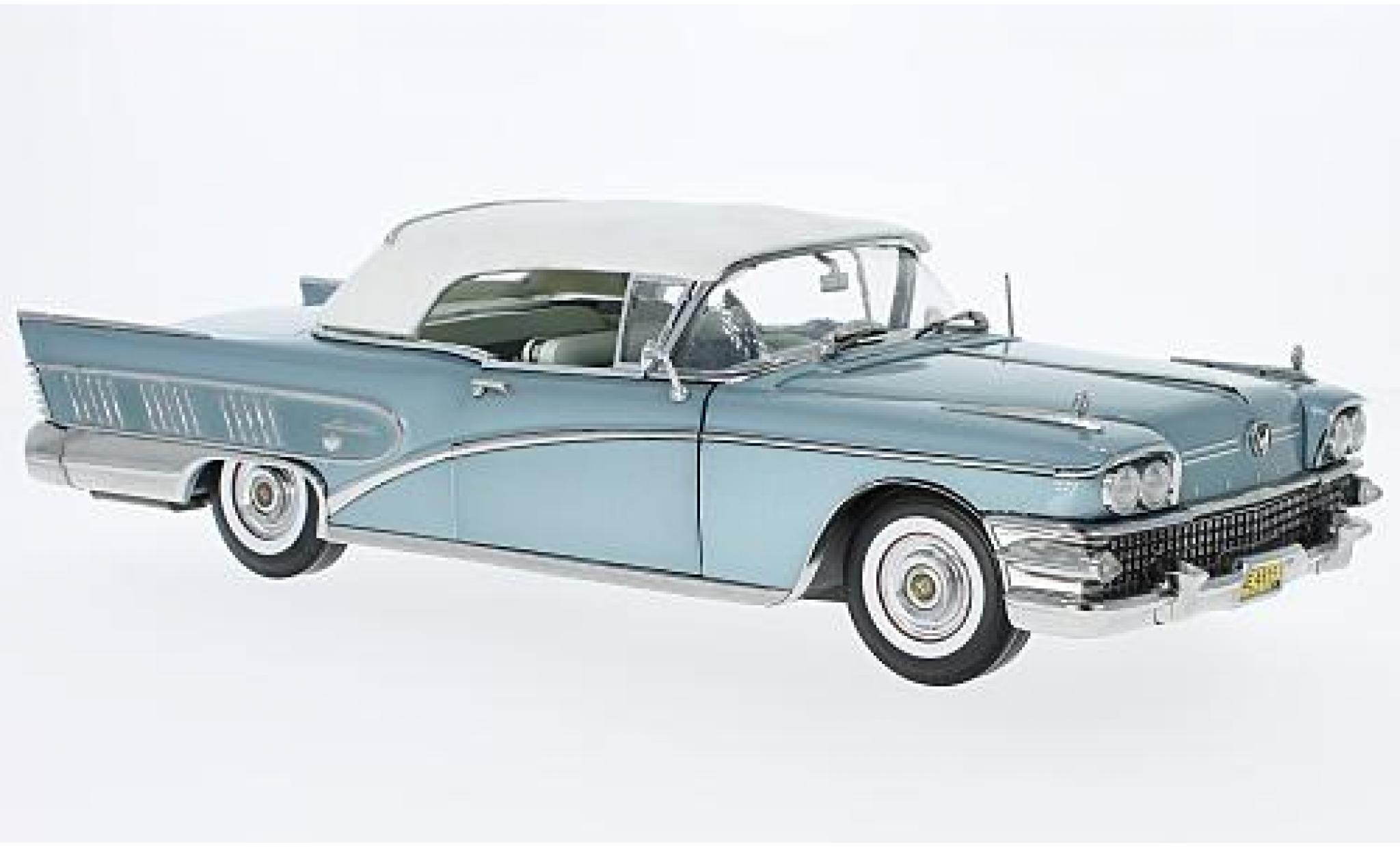 Buick Limited 1/18 Sun Star Convertible metallise bleue 1958 fermé