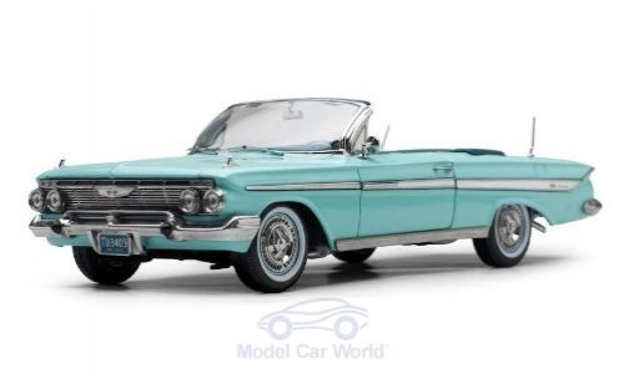 Chevrolet Impala 1/18 Sun Star Convertible turquoise 1961