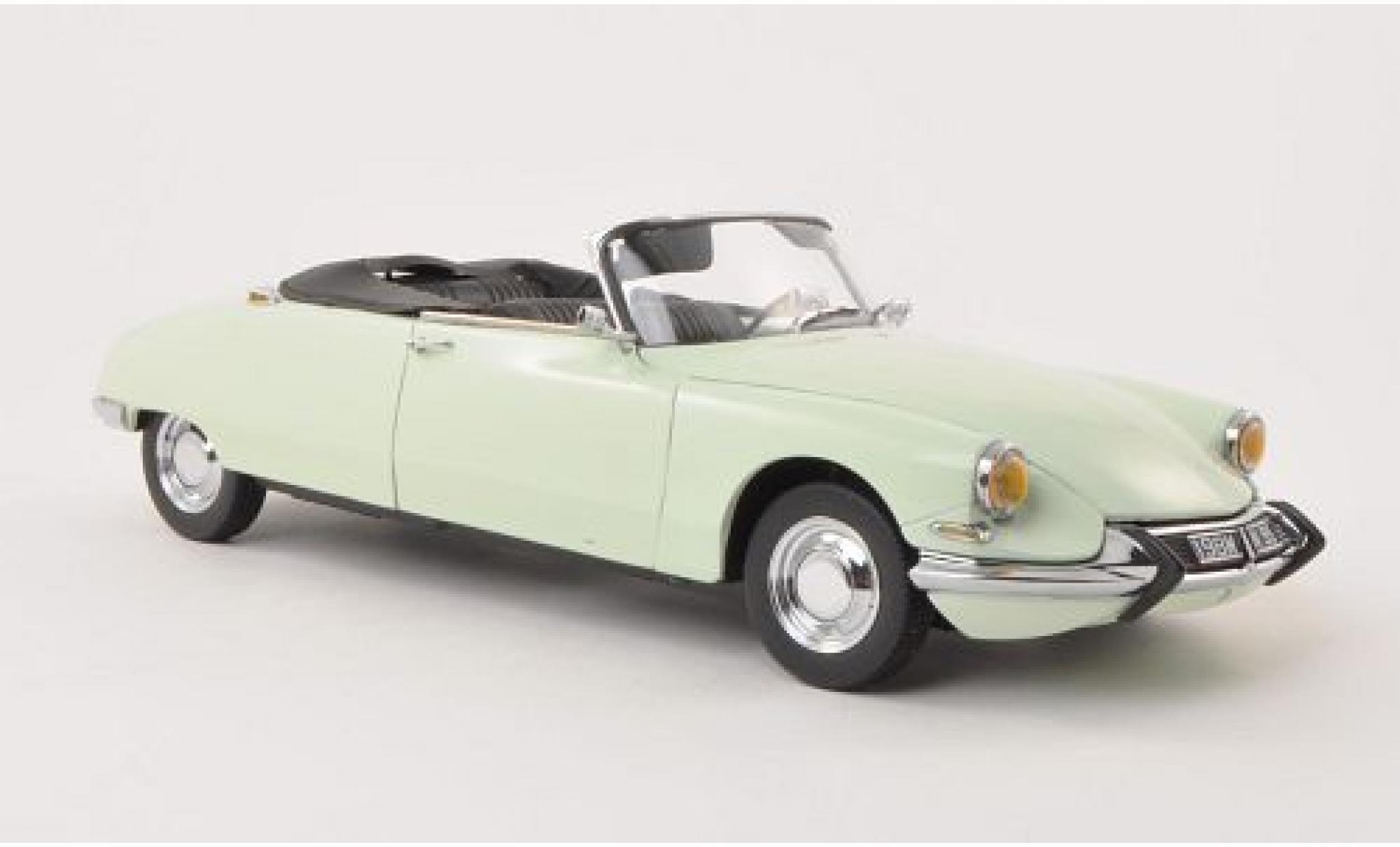 Citroen DS 1/18 Sun Star 19 Cabriolet verte 1961 Softtop couché avec avec Simulation le Hydropneumatik