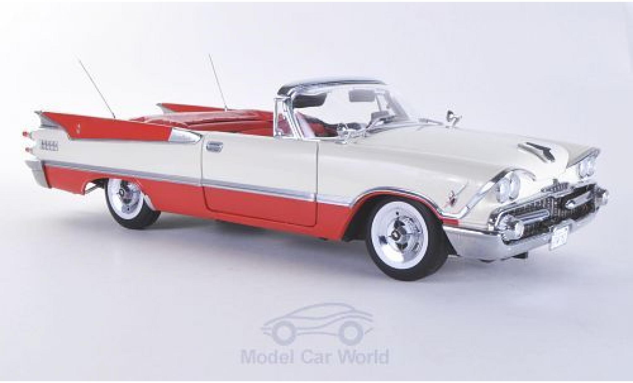 Dodge Custom Royal Lancer 1/18 Sun Star Convertible blanche/rouge 1959 Verdeck geöffnet ohne Vitrine