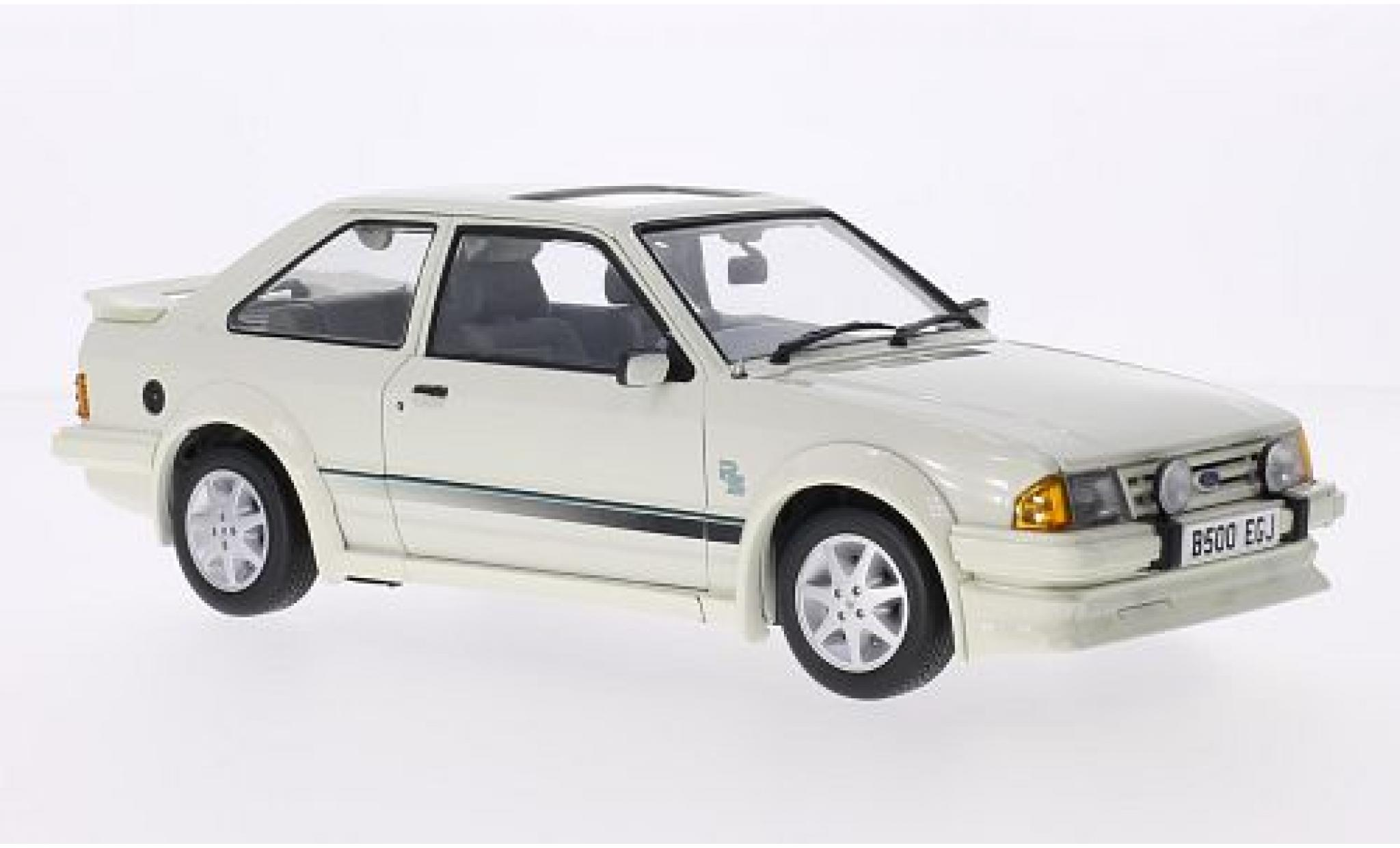 Ford Escort 1/18 Sun Star MkIII RS Turbo blanche RHD 1984
