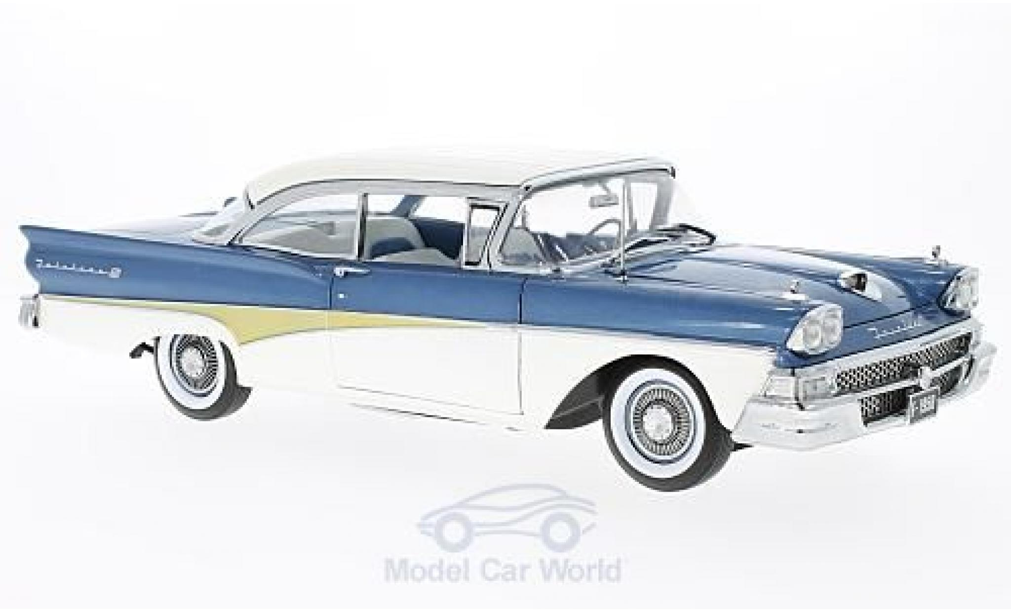 Ford Fairline 1958 1/18 Sun Star Failane 500 HardTop metallic blue/white 1958 Around The World