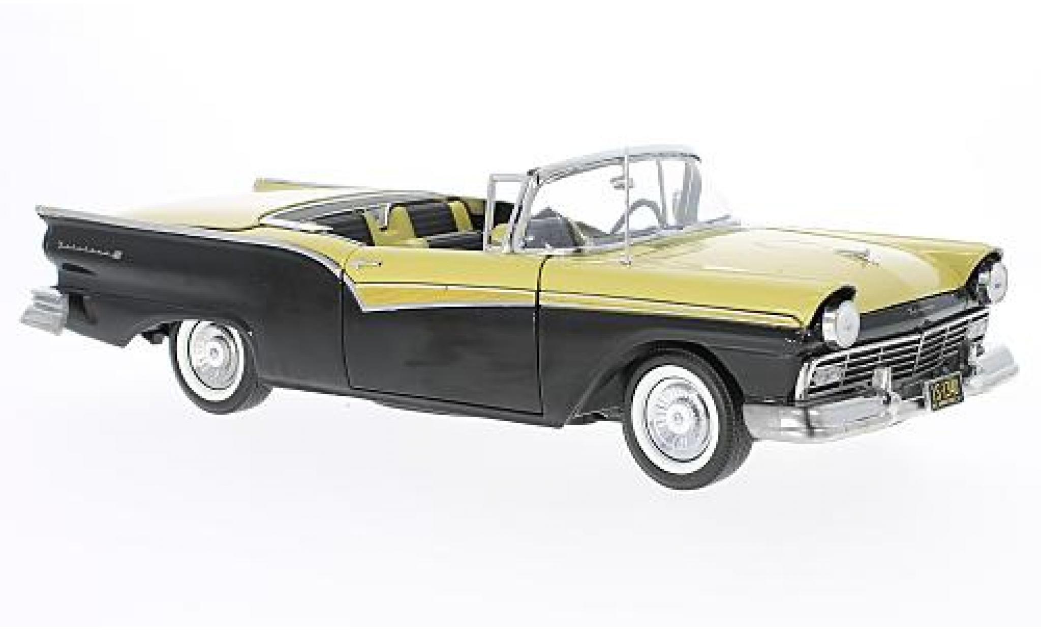 Ford Fairlane 1/18 Sun Star 500 Skyliner noire/jaune 1957