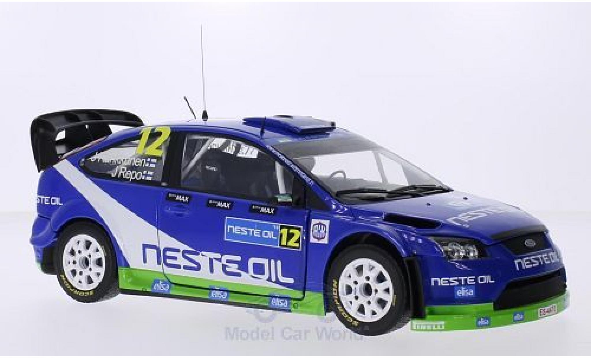 Ford Focus 1/18 Sun Star RS WRC08 No.12 M-Sport Neste Oil Rally Finnland 2010 J.Kankkunen/J.Repo