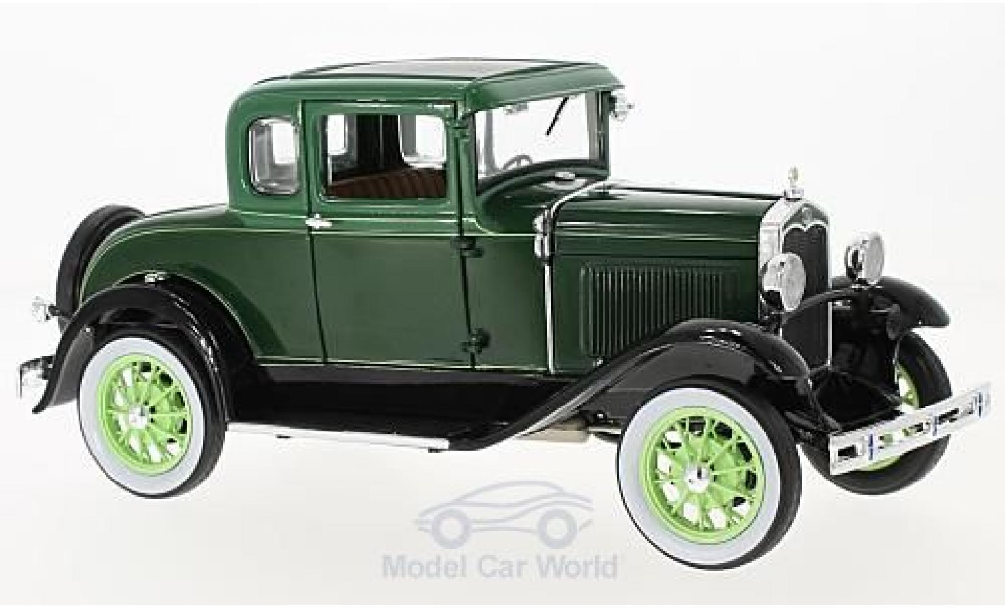 Ford Model A 1/18 Sun Star Coupe verte 1931