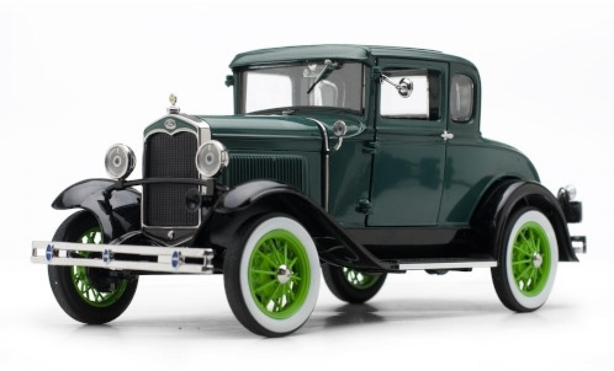 Ford Model A 1/18 Sun Star Coupe verte/verte 1931