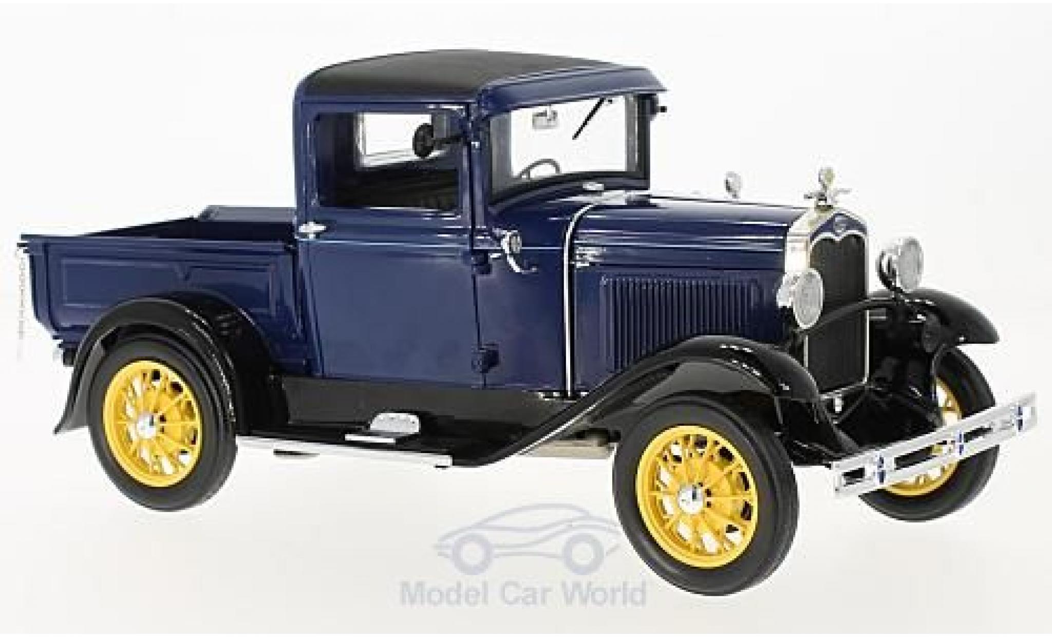 Ford Model A 1/18 Sun Star Pick Up bleue/noire 1931