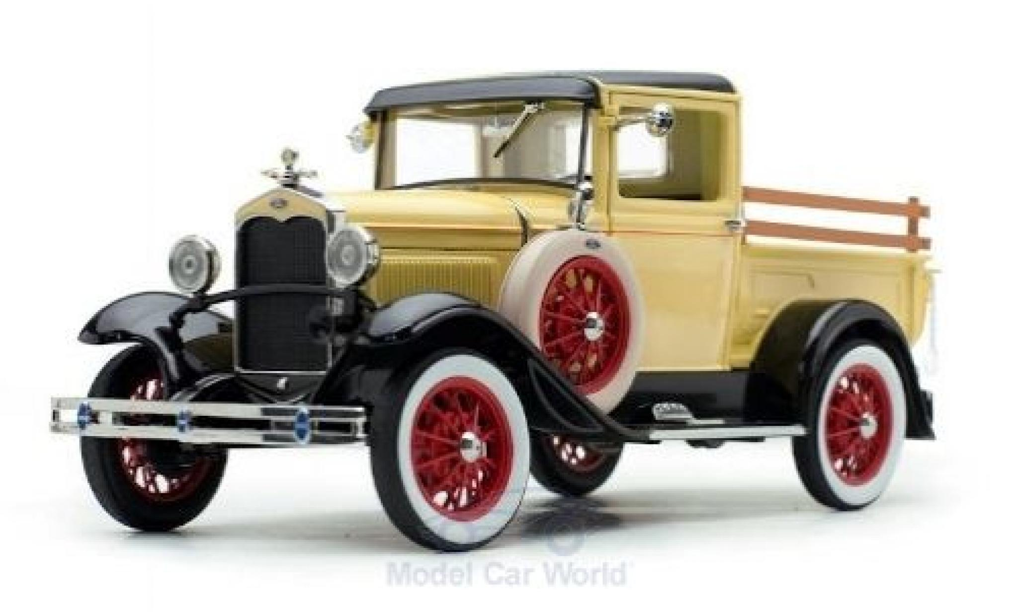 Ford Model A 1/18 Sun Star Pick Up jaune/noire 1931