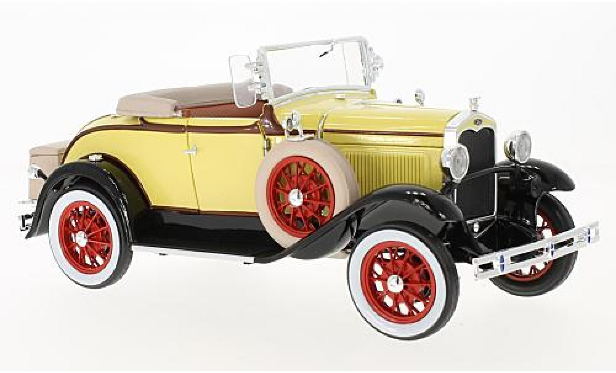 Diecast Model Cars Ford Model A 1 18 Sun Star Roadster Yellow Black 1931 Alldiecast Co Uk