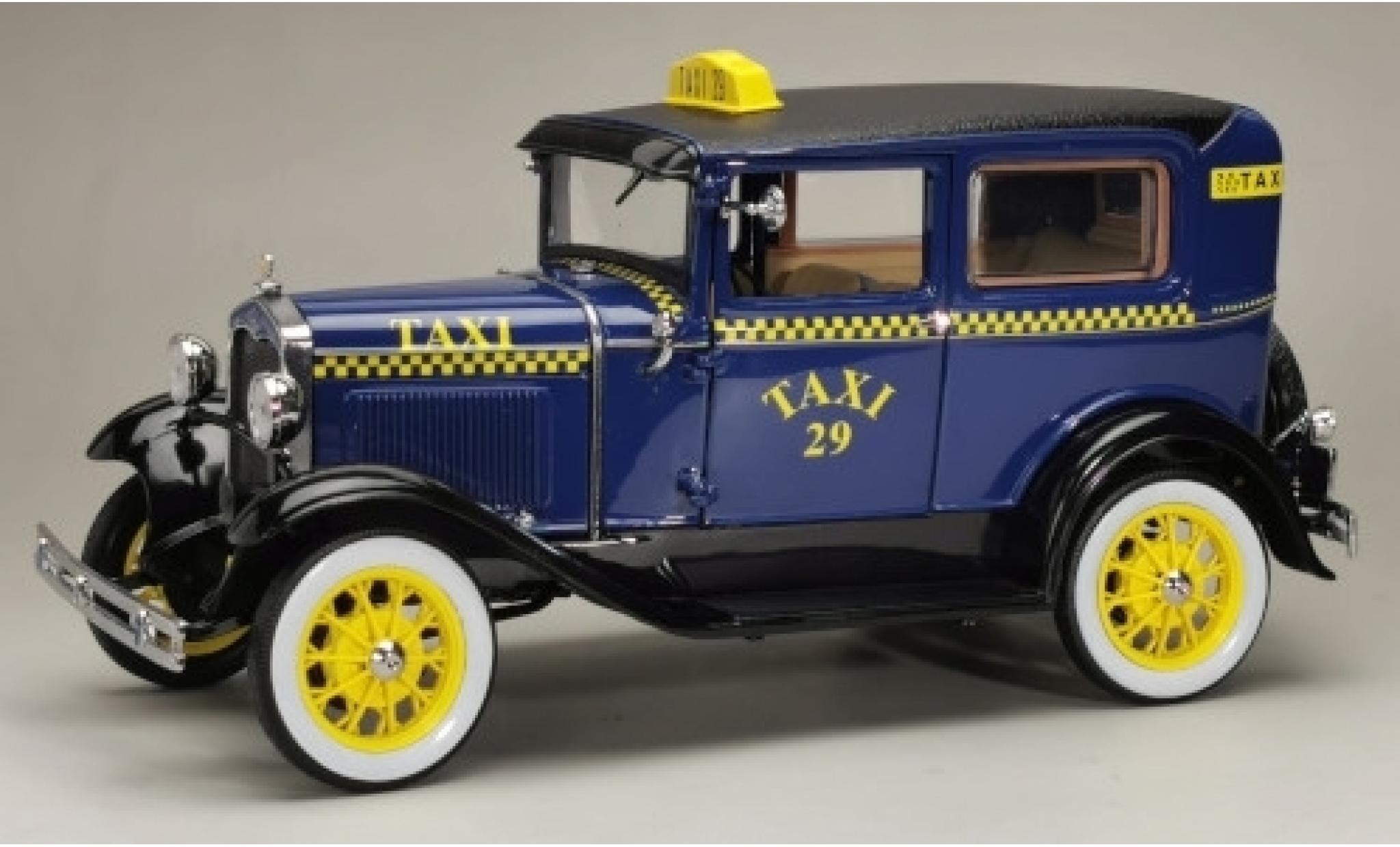 Ford Model A 1/18 Sun Star Tudor bleue/noire Taxi 1931 No.29
