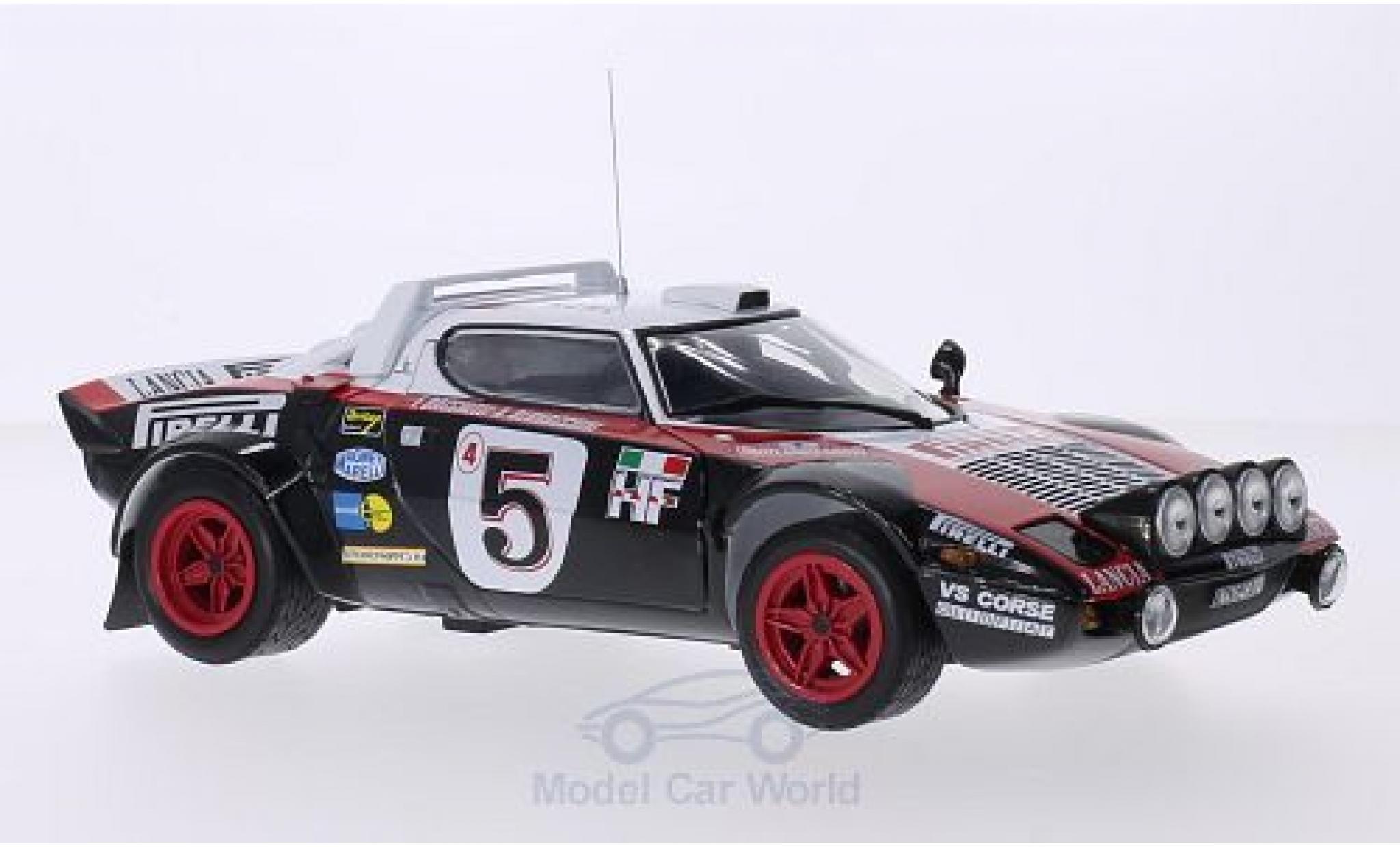 Lancia Stratos 1/18 Sun Star HF Rally No.5 Pirelli Rallye WM Rallye Monte-Carlo 1978 inklusive Abdeckung für Zusatzscheinwerfer F.Bacci/A.Bernacchini