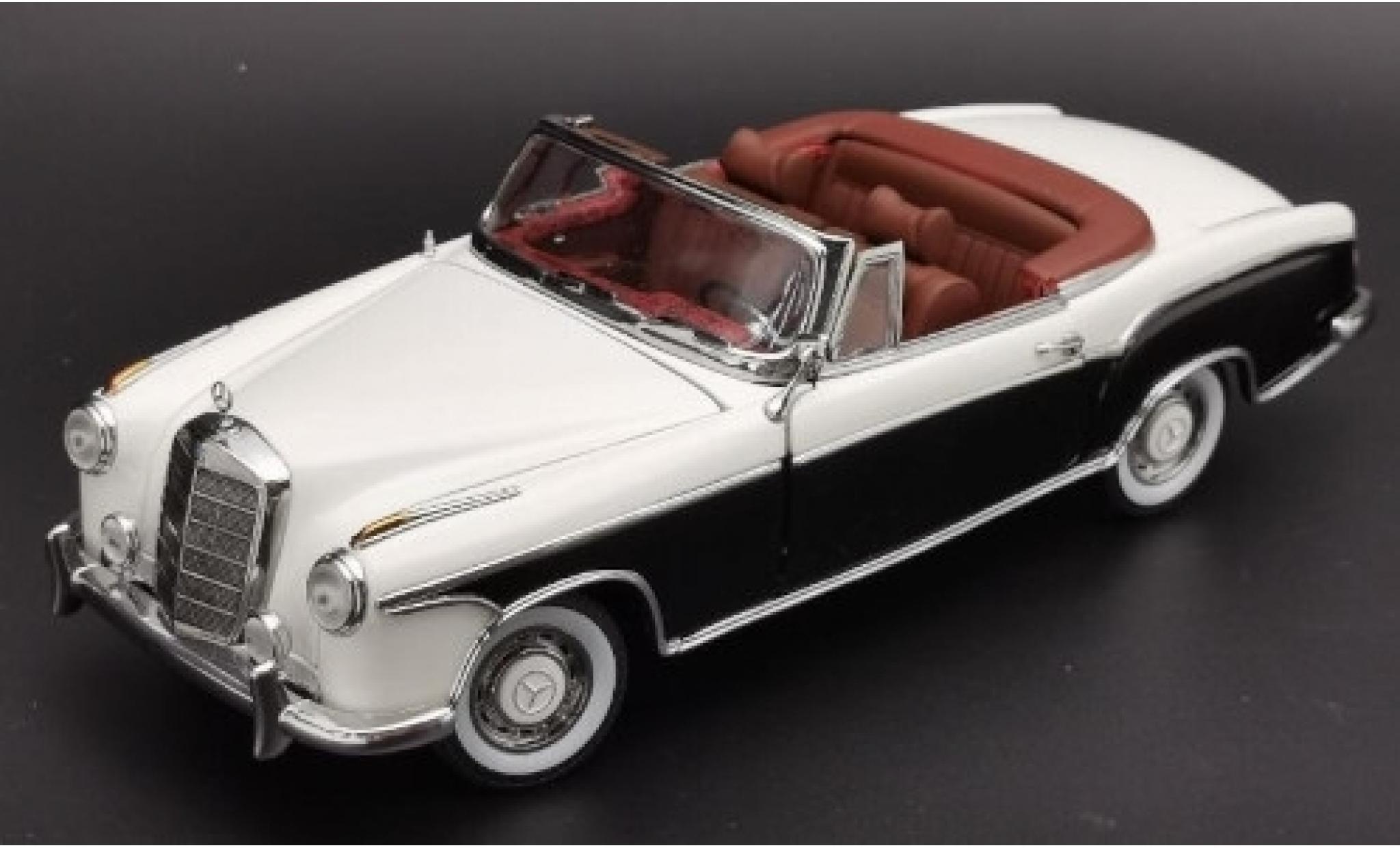 Mercedes 220 1/18 Sun Star SE Cabriolet (W180 II) blanche/noire 1958 Verdeck geöffnet