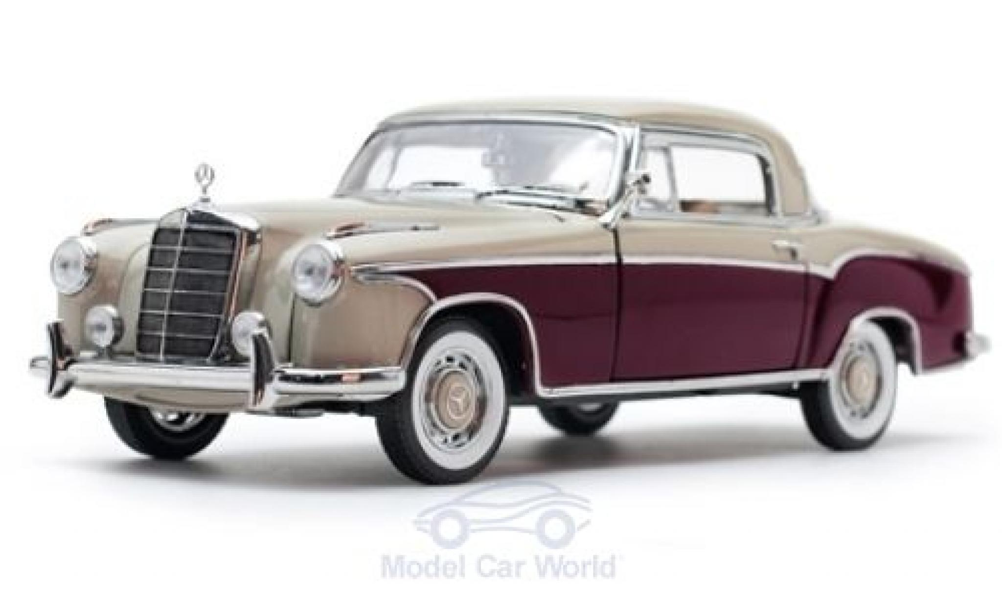 Mercedes 220 1/18 Sun Star SE Coupe beige/rouge 1959