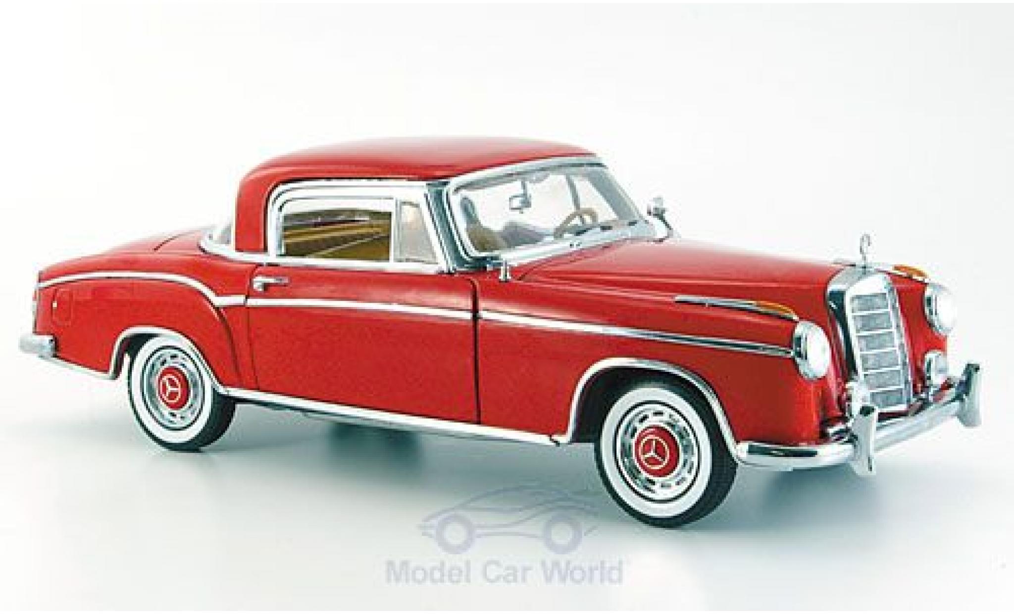 Mercedes 220 1/18 Sun Star SE rouge 1958 ohne Vitrine
