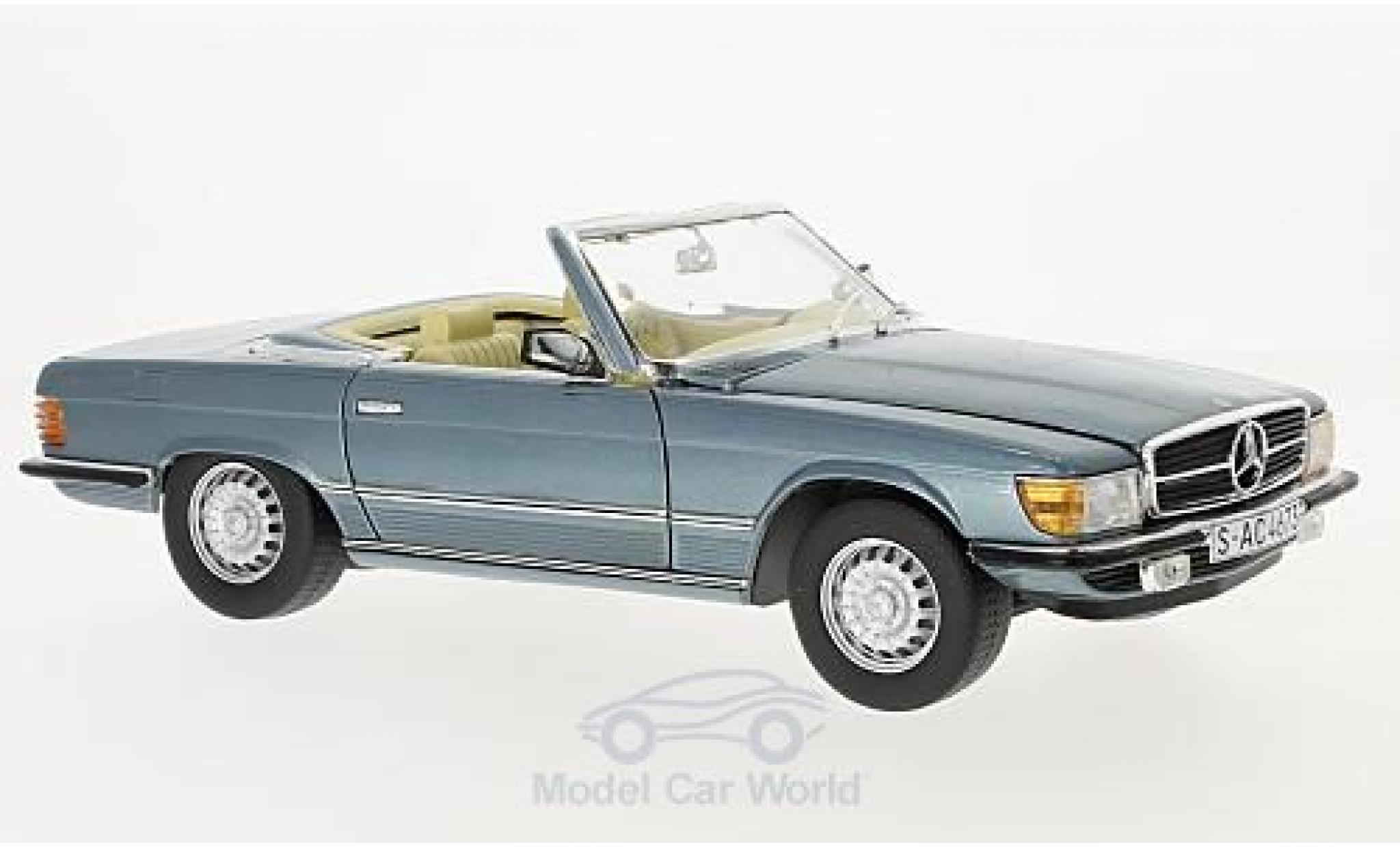 Mercedes 350 1/18 Sun Star SL metallise bleue 1977