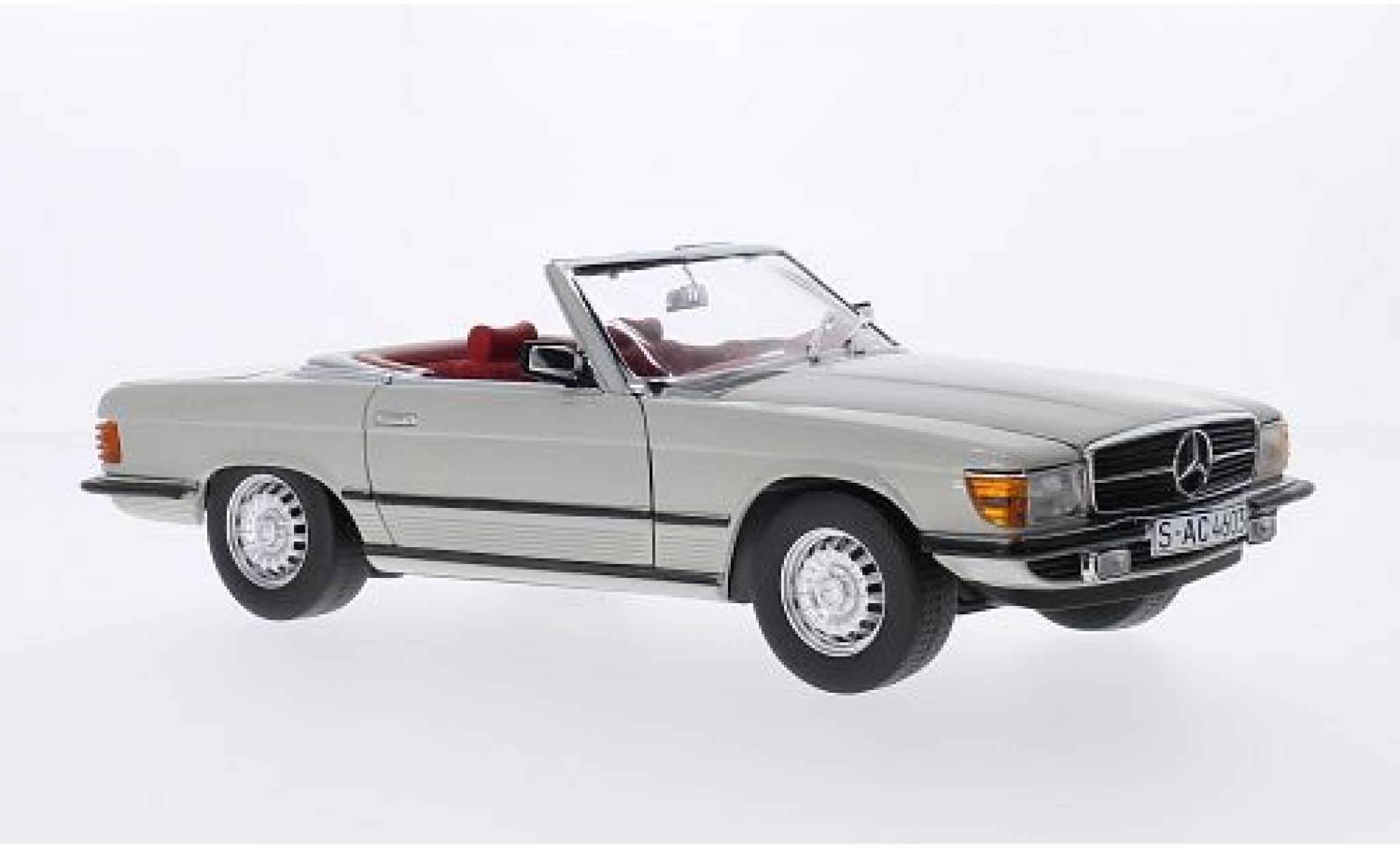 Mercedes 350 1/18 Sun Star SL (R107) grise 1977 Verdeck ouvert