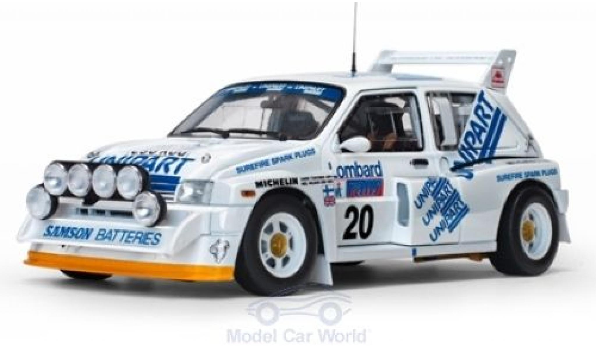 MG Metro 1/18 Sun Star 6R4 No.20 Unipart Rallye WM RAC Rallye 1986 H.Toivonen/N.Wilson