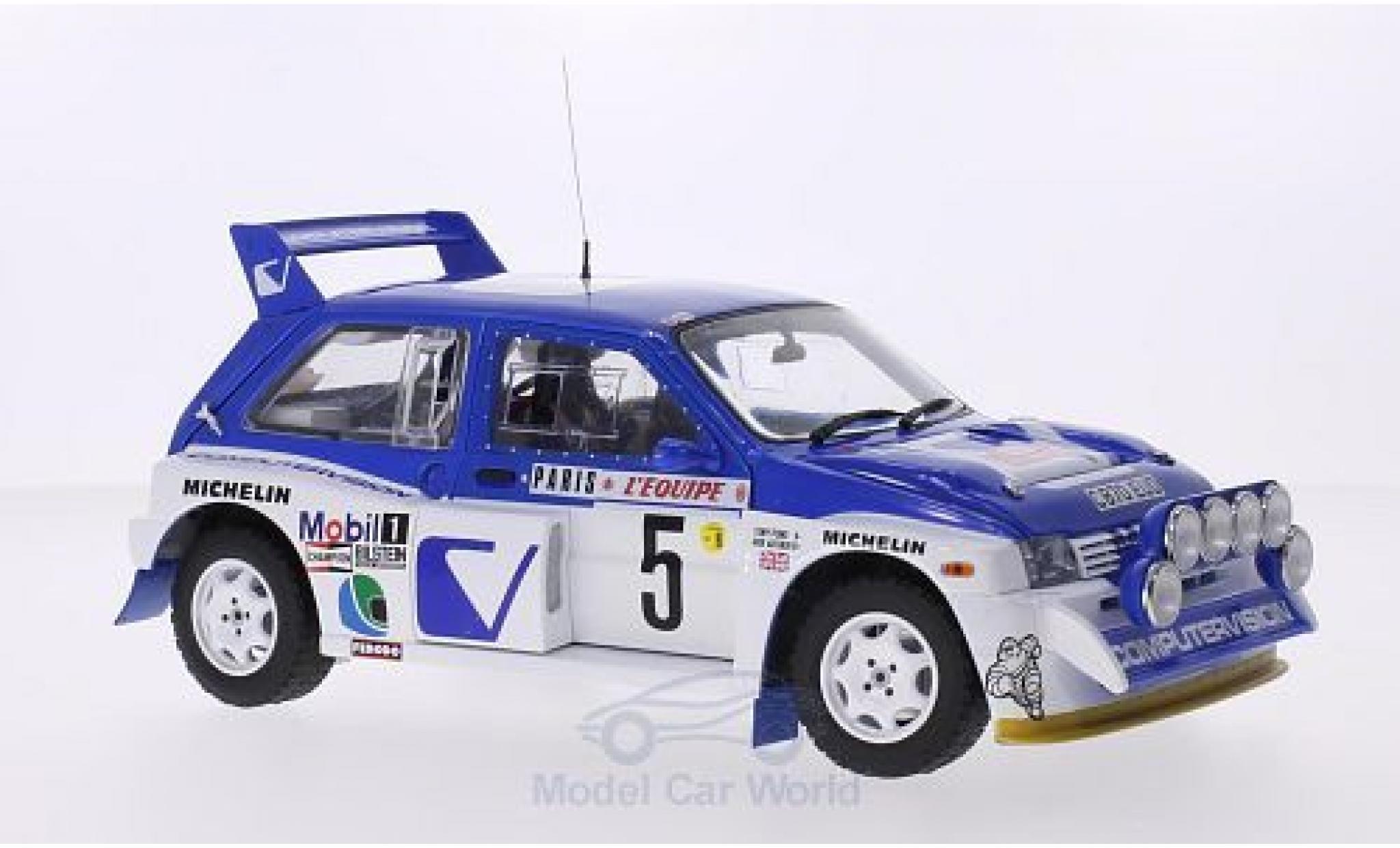 MG Metro 1/18 Sun Star 6R4 RHD No.5 Computervision Rallye Monte-Carlo 1986 inklusive Abdeckung für Zusatzscheinwerfer T.Pond/R.Arthur
