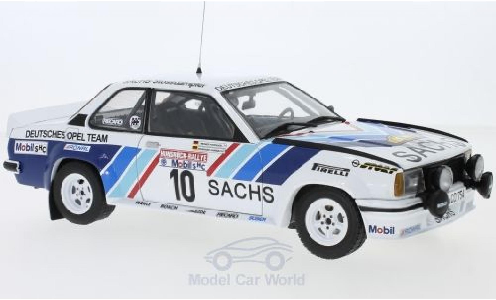 Opel Ascona 1/18 Sun Star 400 No.10 Deutsches Team Sachs Rallye DM Rallye Hunsrück 1980 R.Hainbach/W.Hohenadel