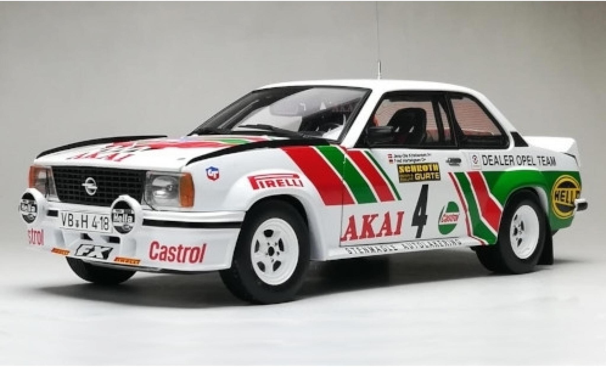 Opel Ascona 1/18 Sun Star B 400 No.4 Dealer Team Castrol International Sachs Winter Rallye 1981 J-O.Kristiansen/F.Hartwigsen