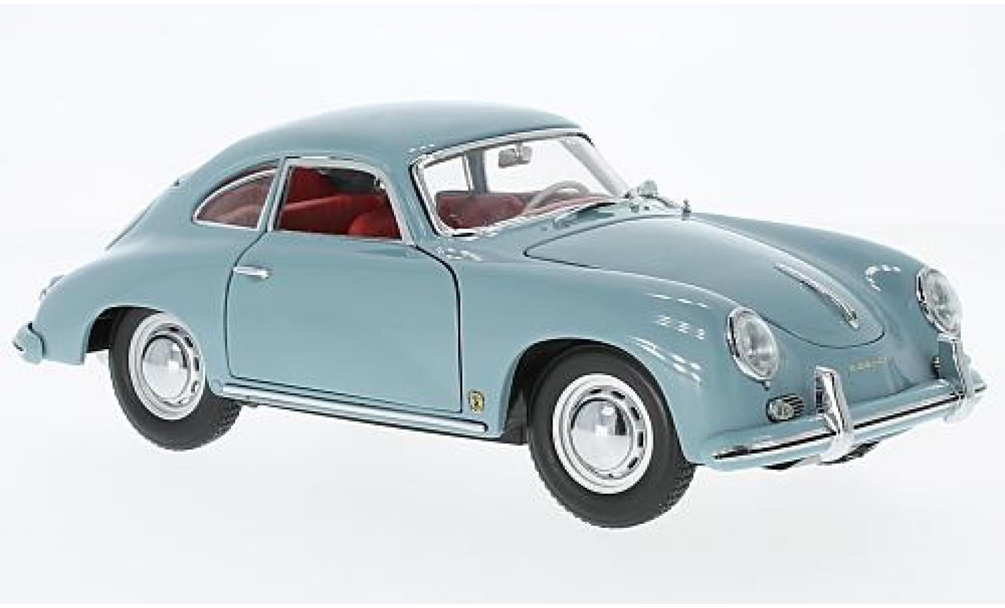 Porsche 356 1/18 Sun Star A GS Carrera GT bleue 1957 sans Vitrine