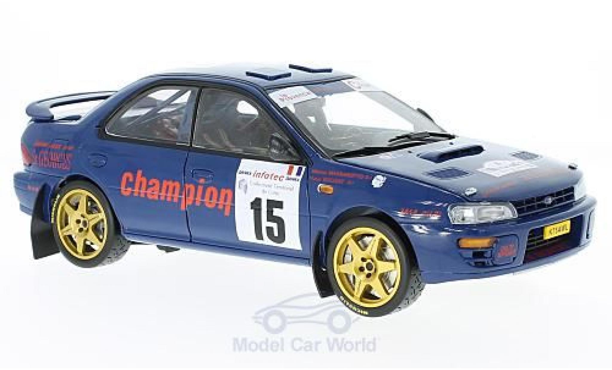 Subaru Impreza 555 1/18 Sun Star 555 No.15 Tour de Corse 1996 M.Massarougeto/Y.Bouzat