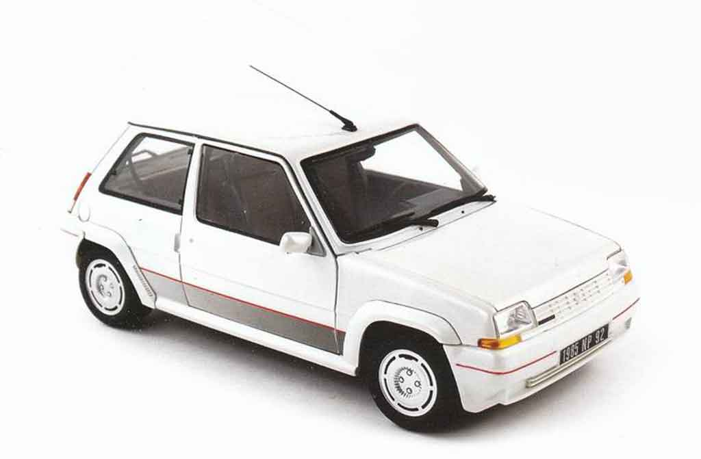 Renault 5 1/18 Norev GT Turbo phase 1 blanche miniature