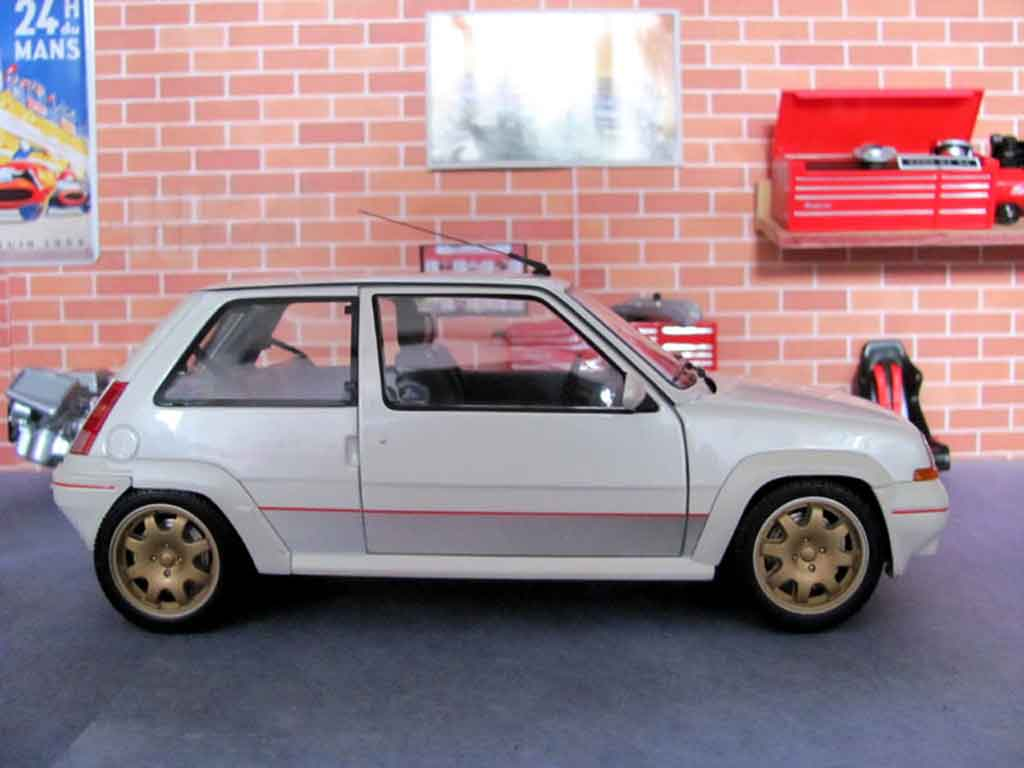renault 5 gt turbo phase 1 bianco ruote clio williams norev modellini auto 1 18 comprare. Black Bedroom Furniture Sets. Home Design Ideas
