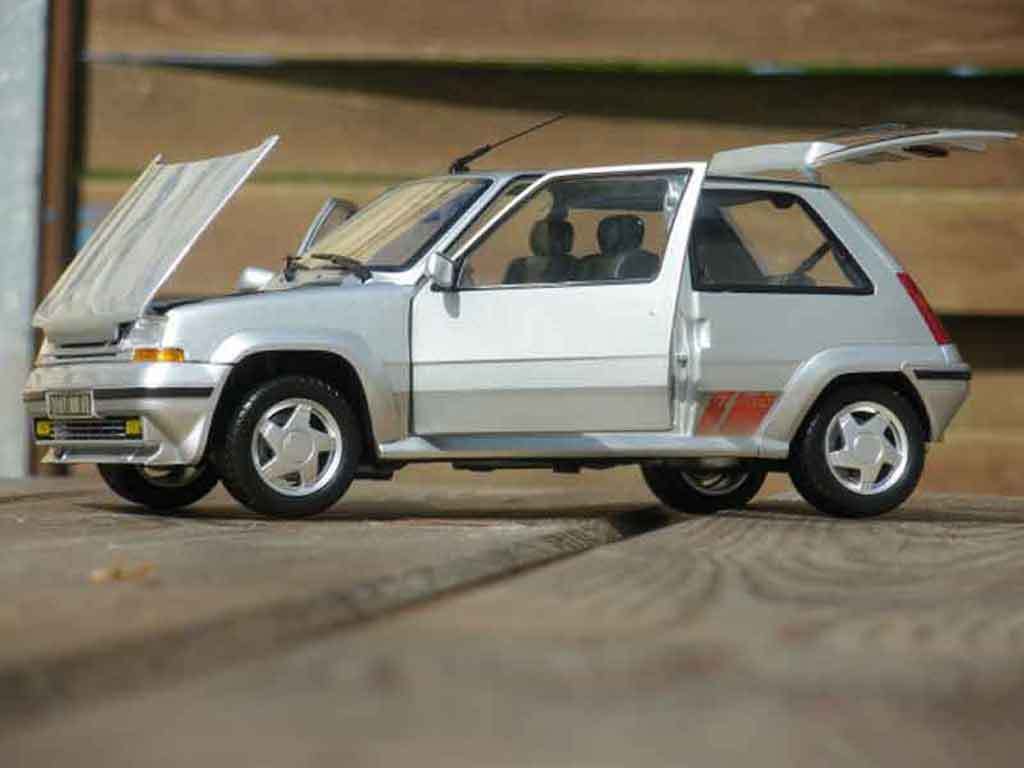 Renault 5 GT Turbo 1/18 Norev phase 2 grise